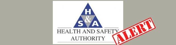 Maintenance safety alerts