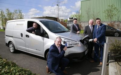 Electric van displays Thermodial's environmental credentials