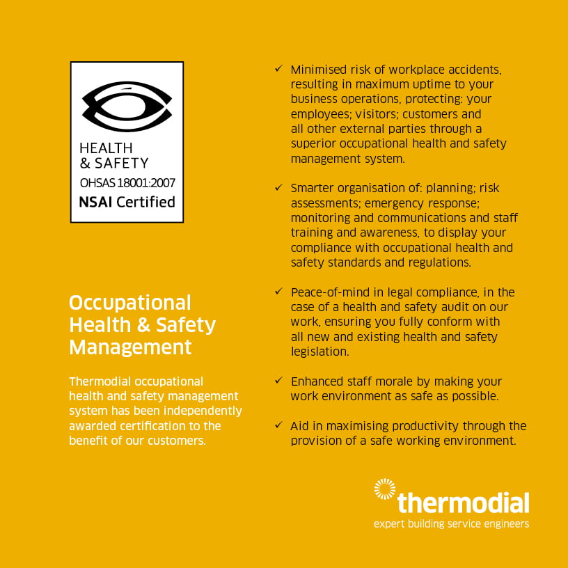 Thermodial ISO 18001 health and safety management system
