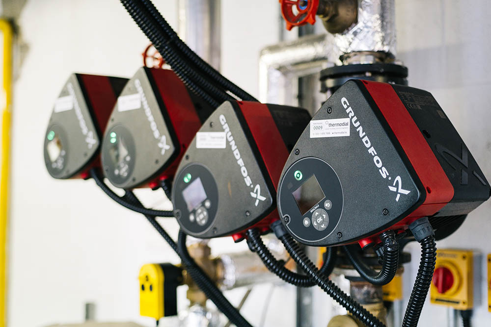 Thermodial plantroom high efficiency intelligent pumps
