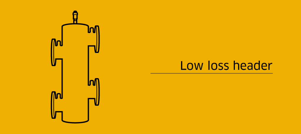 Low loss header in a water system